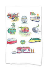 PAPER SHARKS TRAILERS DISH TOWEL