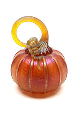 THE FURNACE GLASSWORKS SUNGOLD SMALL PUMPKIN