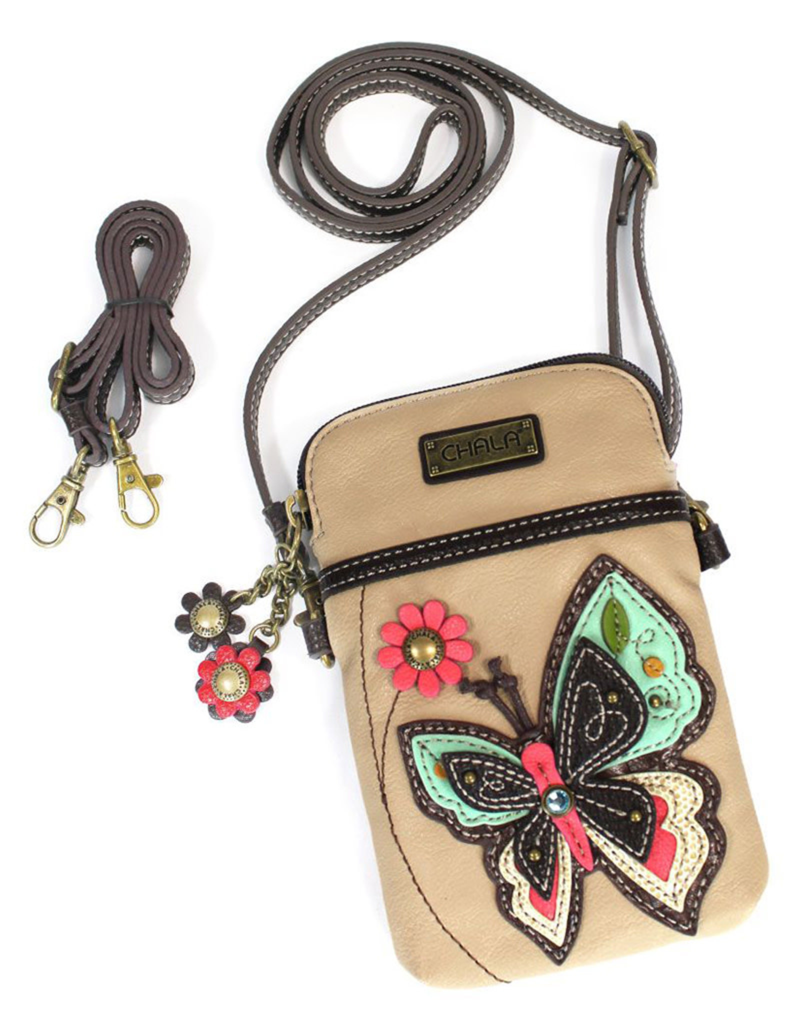 CHALA IVORY BUTTERFLY CELL PHONE CROSSBODY