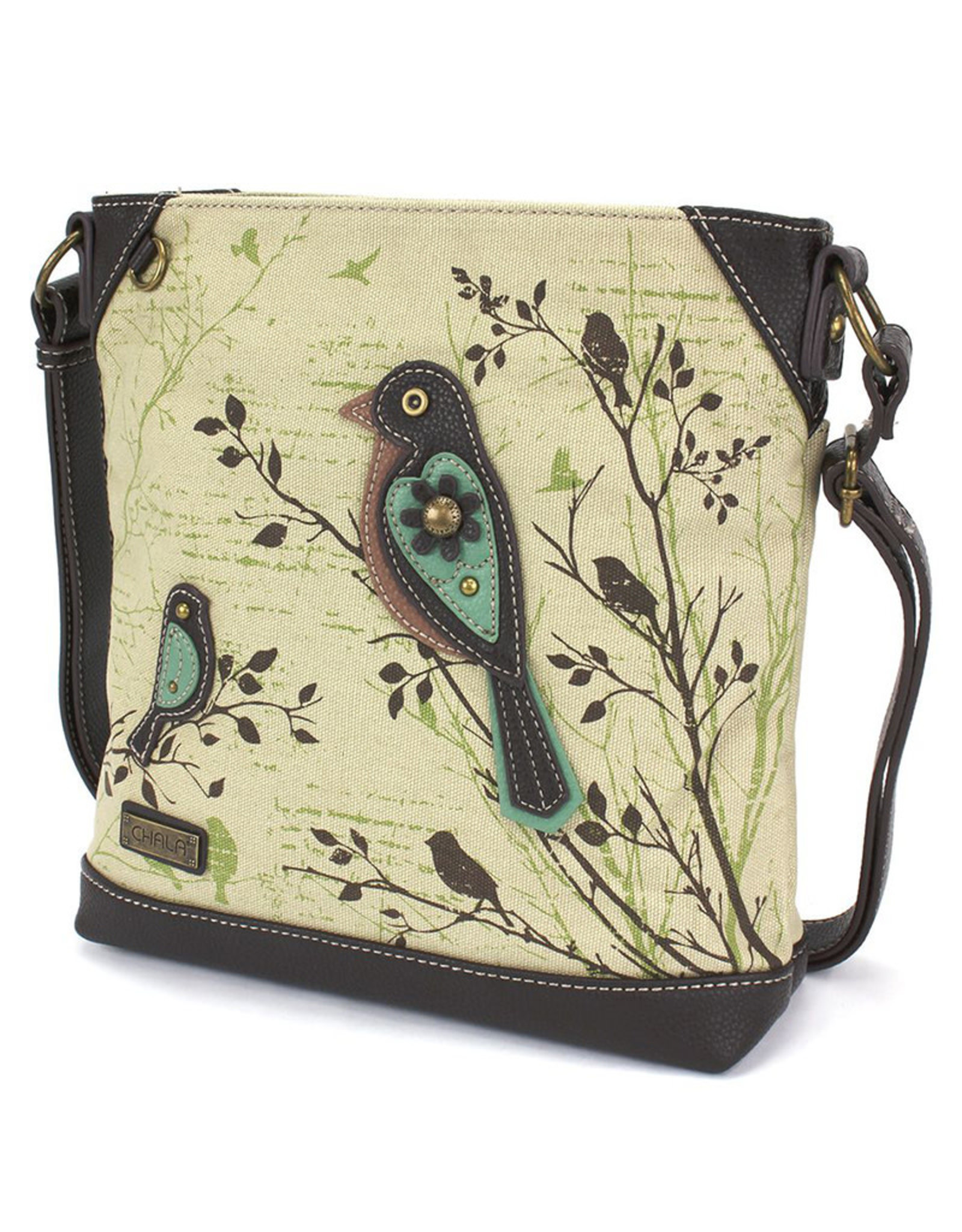 CHALA SAFARI BIRD CANVAS CROSSBODY BAG