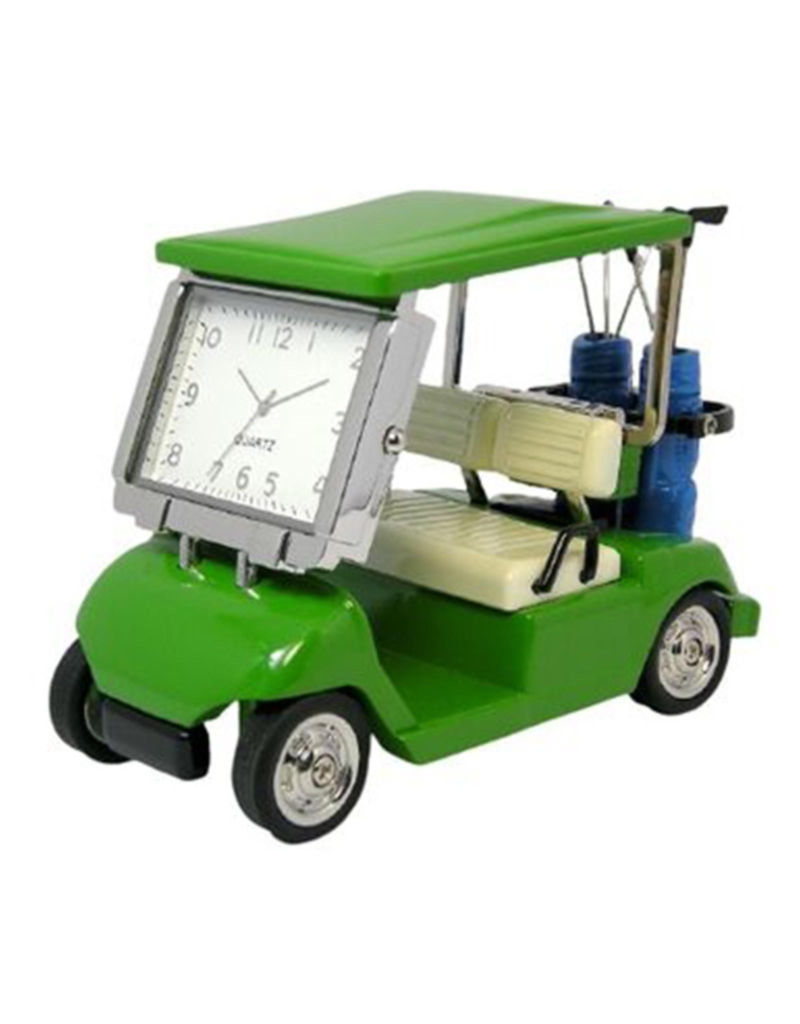 SANIS GREEN GOLF CART MINIATURE CLOCK