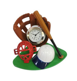 SANIS BASEBALL MINIATURE CLOCK