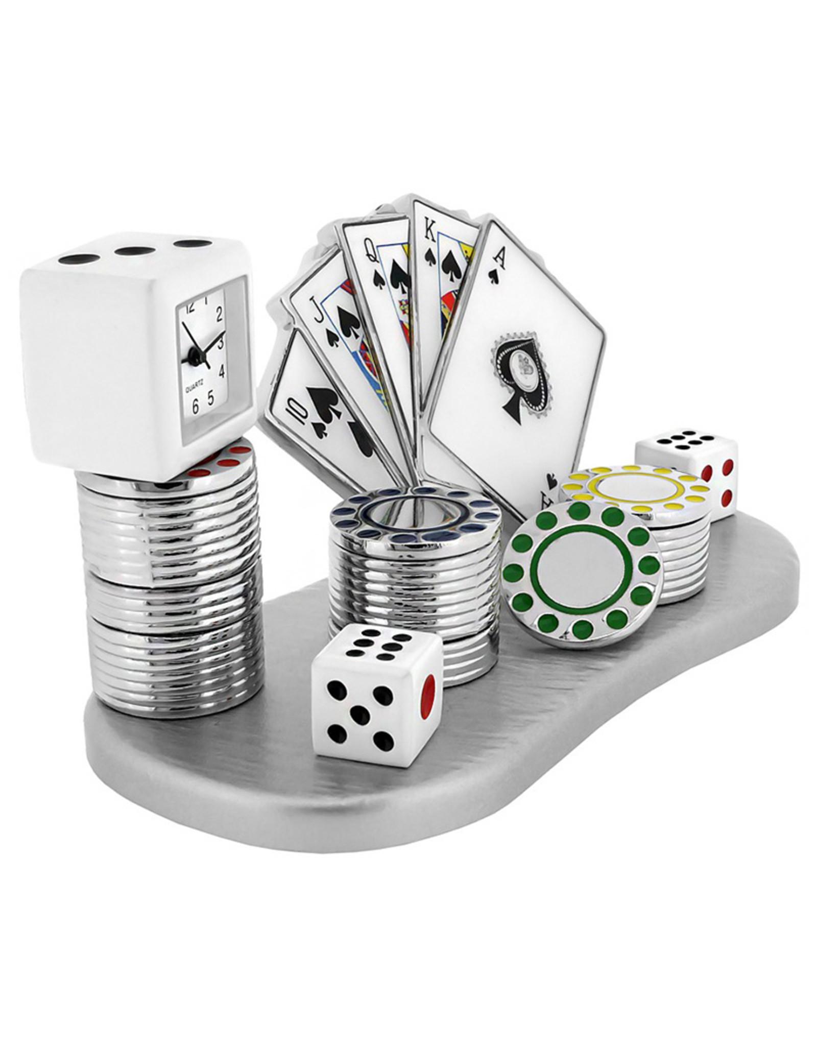 SANIS GAMBLING MINIATURE CLOCK