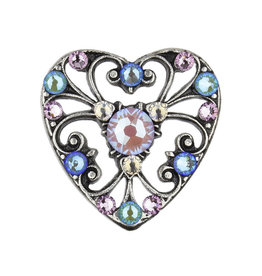 ANNE KOPLIK DESIGNS DEVERA CRYSTAL HEART PIN