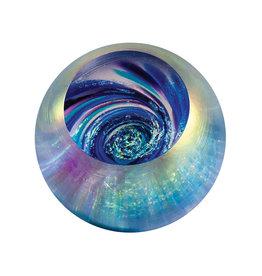 GLASS EYE VORTEX FIREBALL PAPERWEIGHT