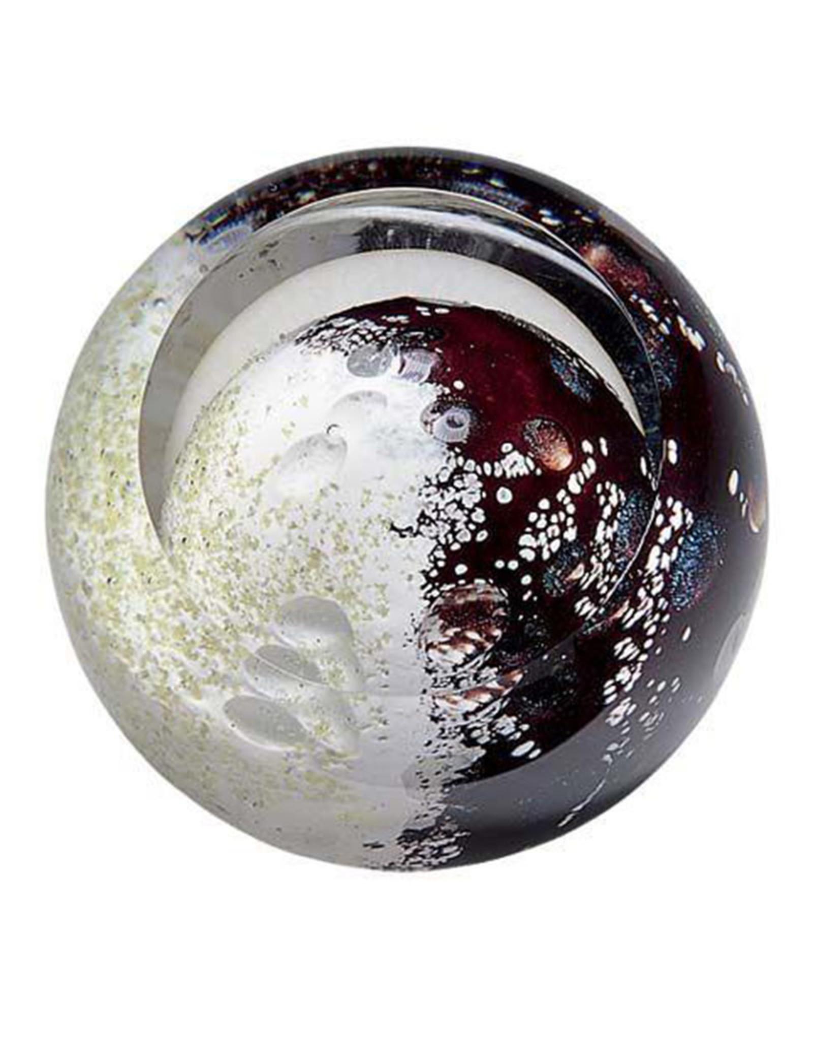 GLASS EYE MERCURY PLANETARY PAPERWEIGHT