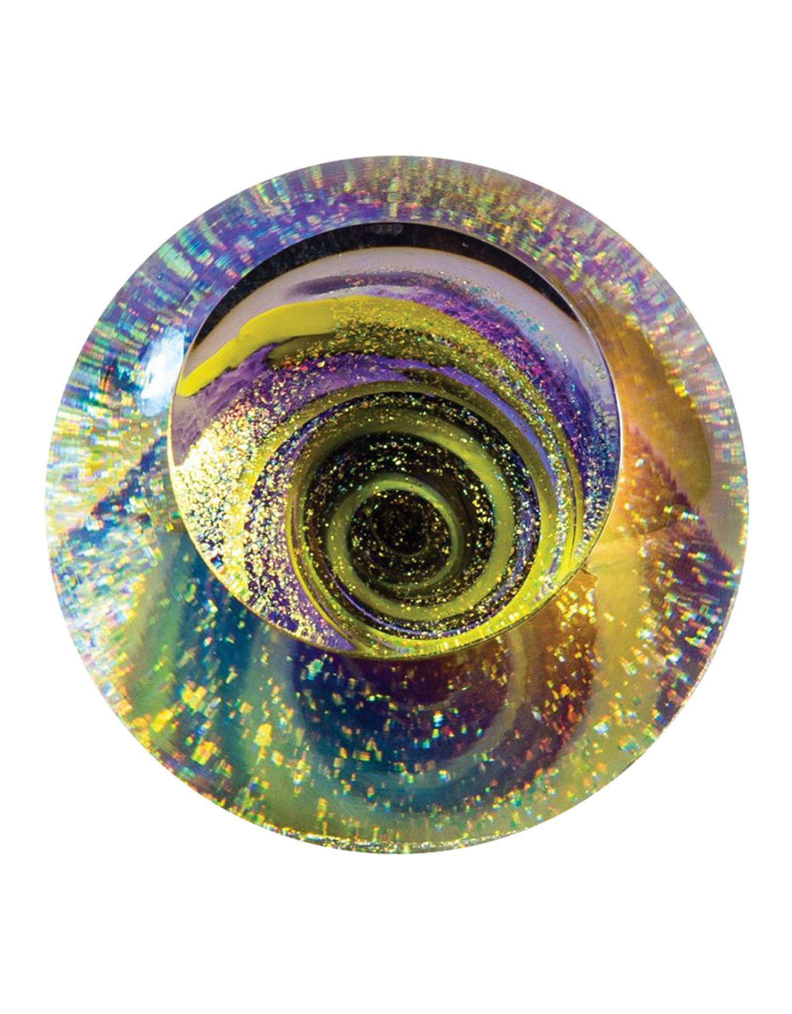 GLASS EYE AVENTURINE FIREBALL PAPERWEIGHT