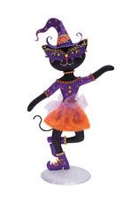 GALLERIE II HALLOWEEN GLAM CAT (PURPLE HAT)