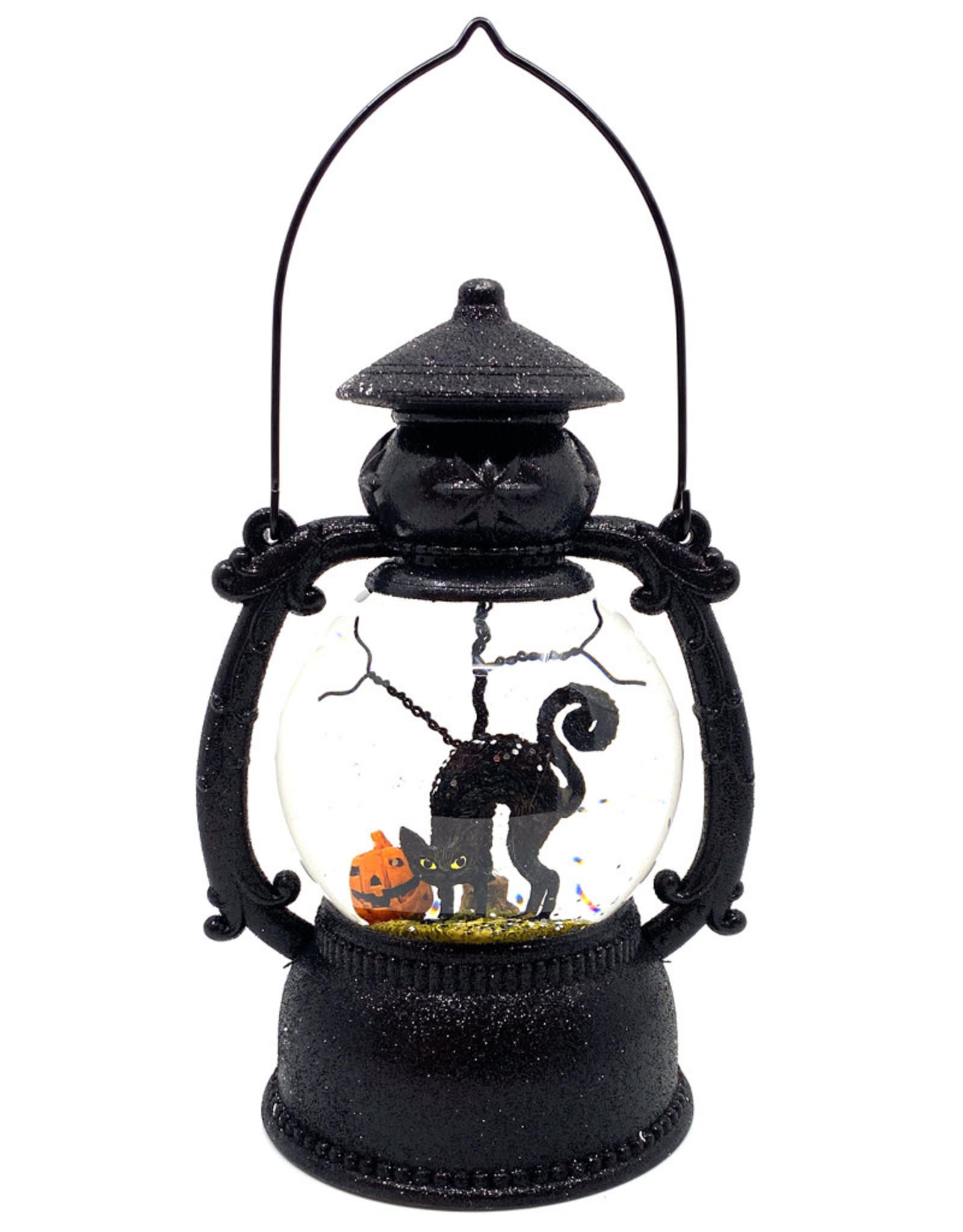 ROMAN LED SWIRLING BLACK CAT LANTERN