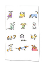 PAPER SHARKS DRESS UP DOGS DISH TOWEL