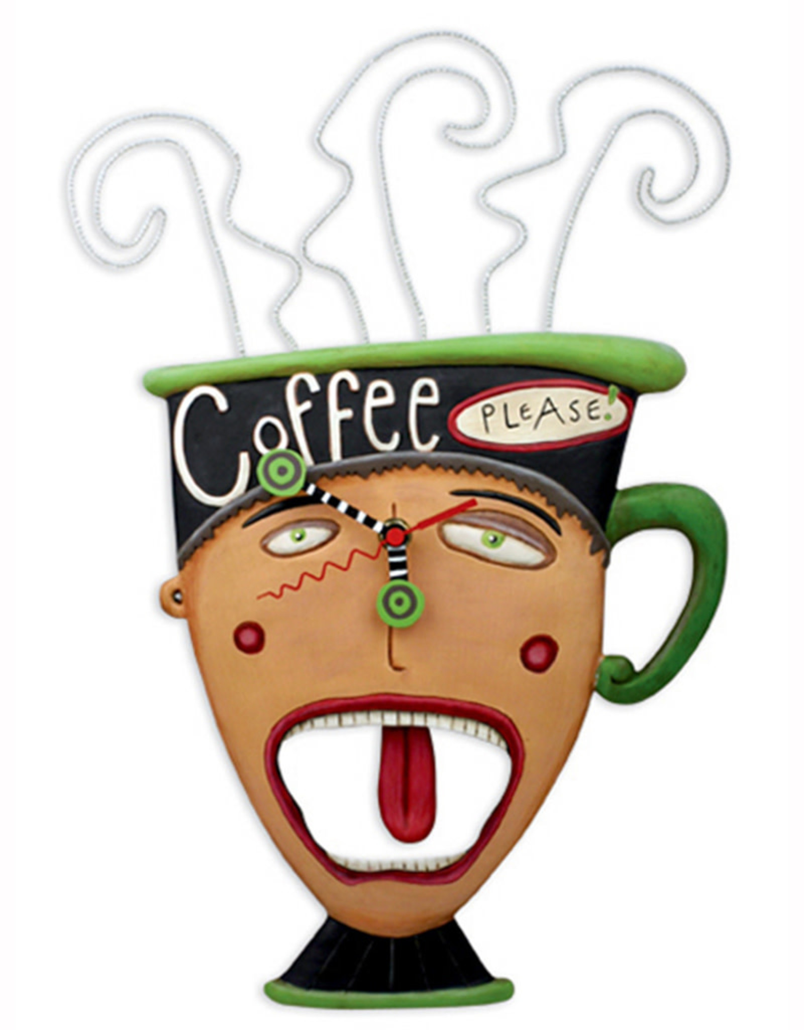 ALLEN DESIGNS COFFEE PLEASE CLOCK