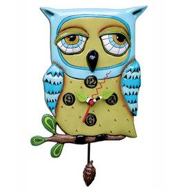 ALLEN DESIGNS OLD BLUE OWL CLOCK