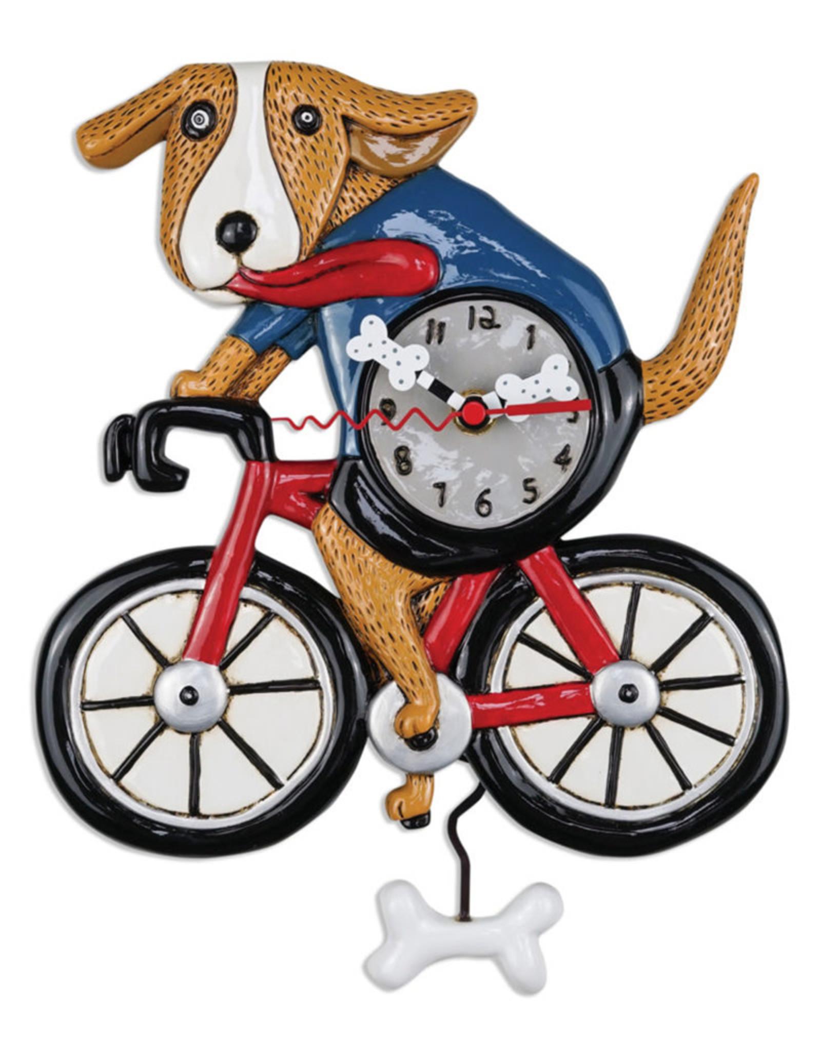 ALLEN DESIGNS BICYCLE DOG CLOCK