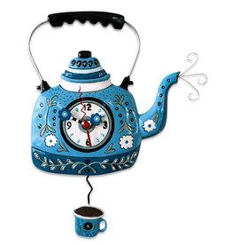 ALLEN DESIGNS BLUE KETTLE CLOCK