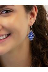 ANNE KOPLIK DESIGNS DELPHINE CRYSTAL GARDEN EARRINGS