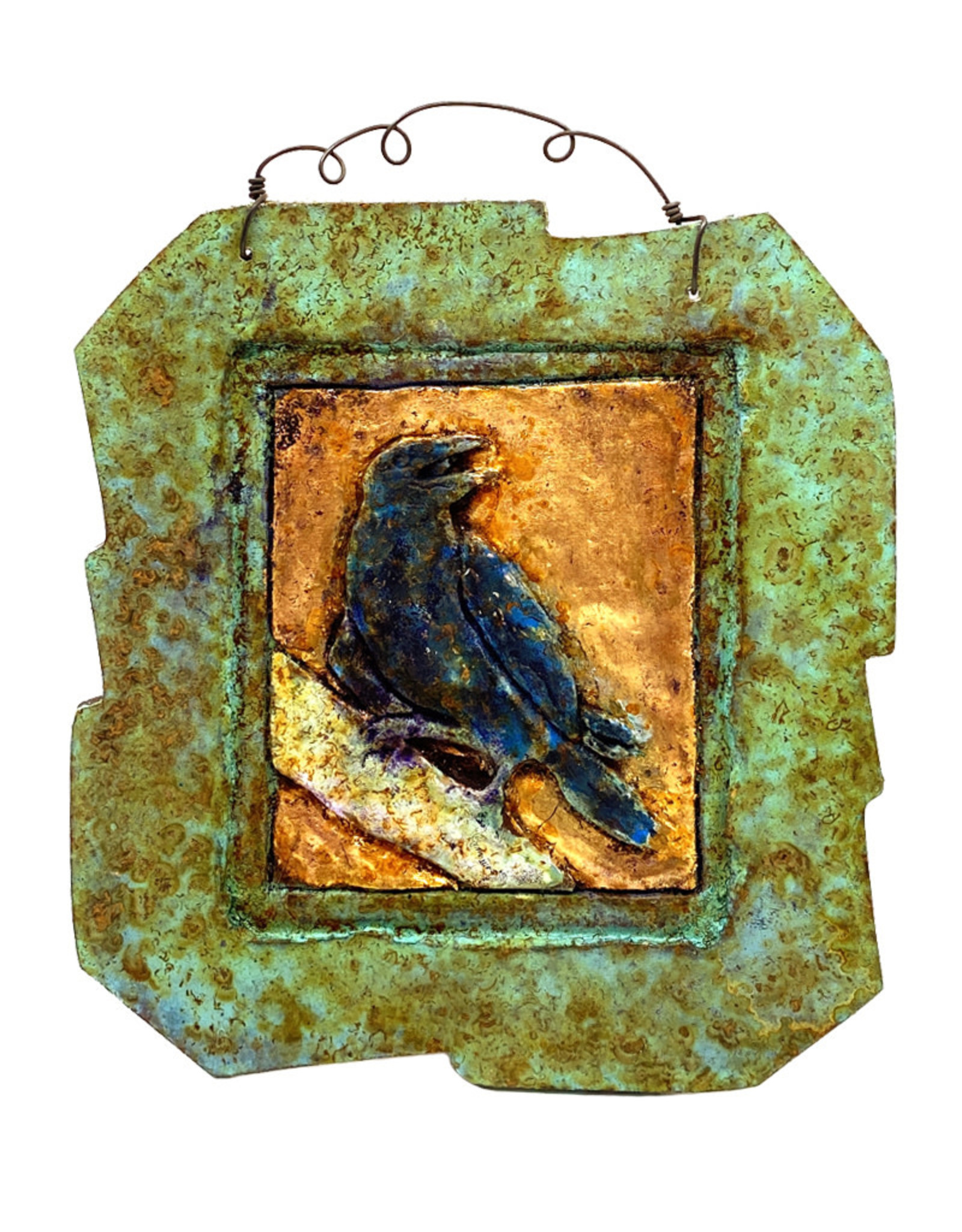 PAPER & STONE SMALL RAVEN WALL PLAQUE