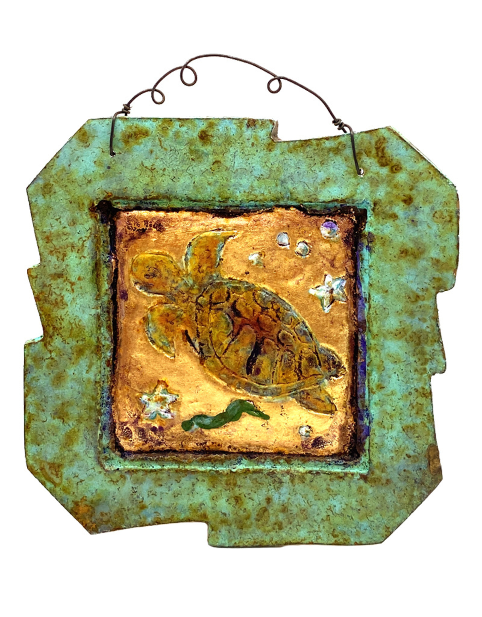 PAPER & STONE SMALL TURTLE WALL PLAQUE