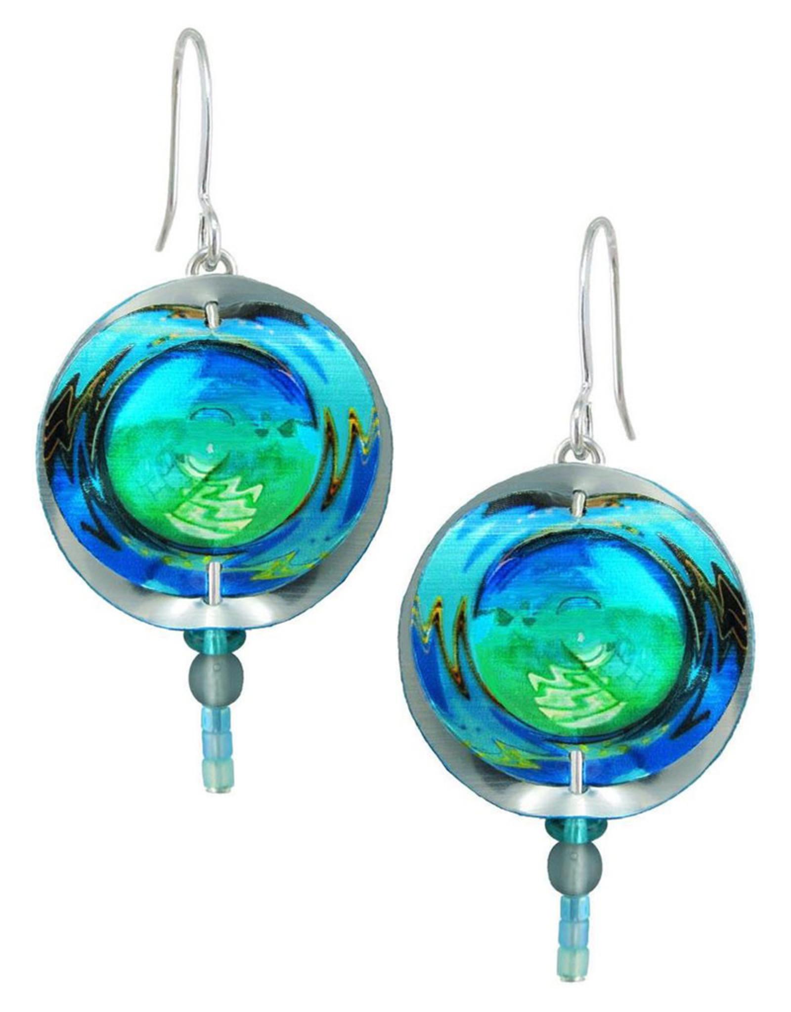 SINGERMAN & POST BLUE PLANET EARRINGS
