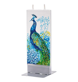 FLATYZ PEACOCK IN FLOWERS CANDLE