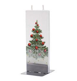 FLATYZ SNOWY CHRISTMAS TREE CANDLE