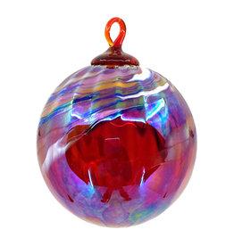 GLASS EYE HOLIDAY SWIRL ORNAMENT