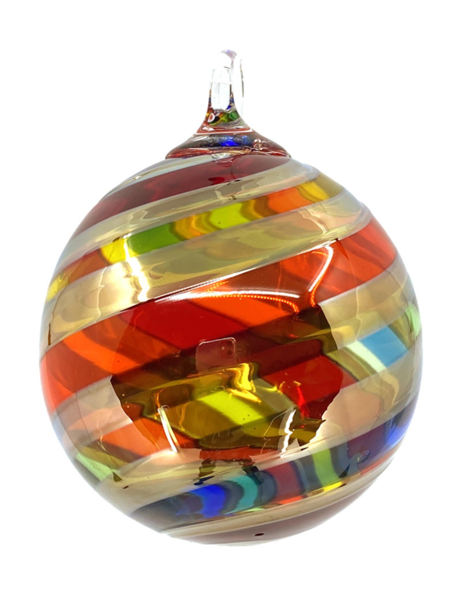 GLASS EYE RAINBOW PLATINUM TWIST ORNAMENT