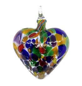 GLASS EYE FIESTA HEART ORNAMENT