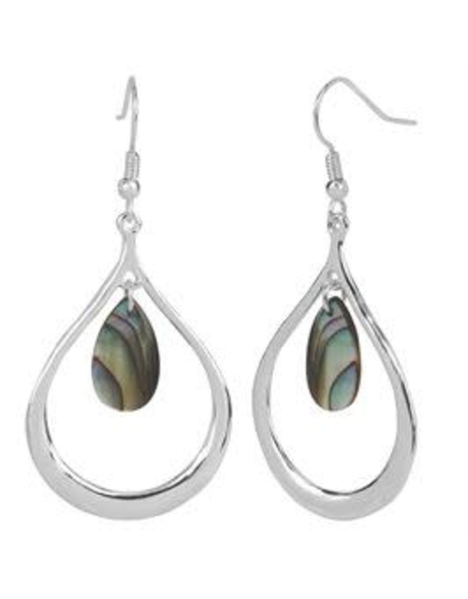 Whispers E/R- Whisper Tear Drop w/abalone dangle