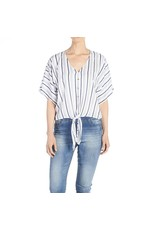 Coco & Carmen Striped Tie Top