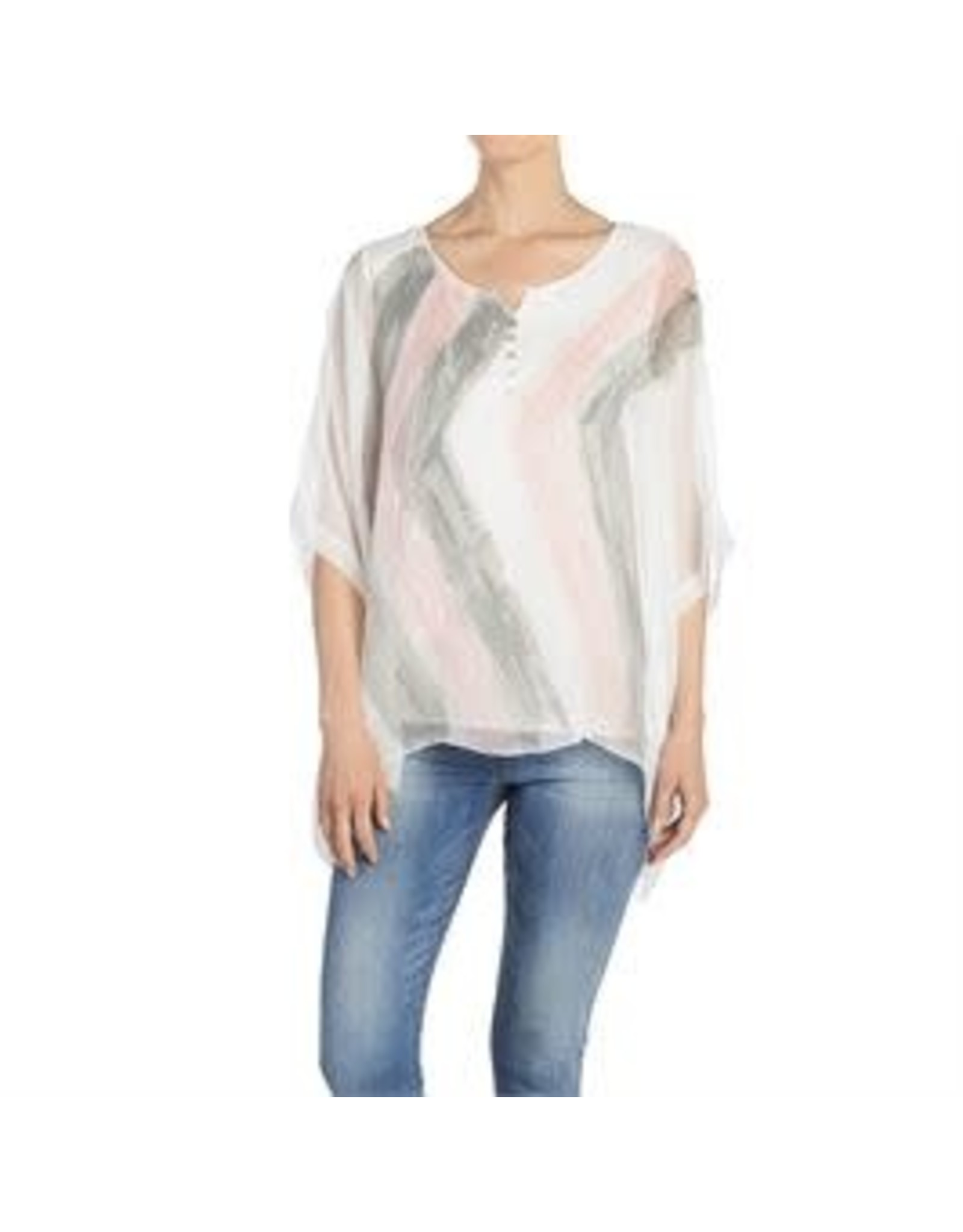 Coco & Carmen Button ZigZag Top