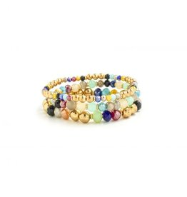Splendid Iris B/L- Crystals & Gold Beads