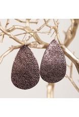 Amanda Blu E/R- Leather Bronze Teardrop