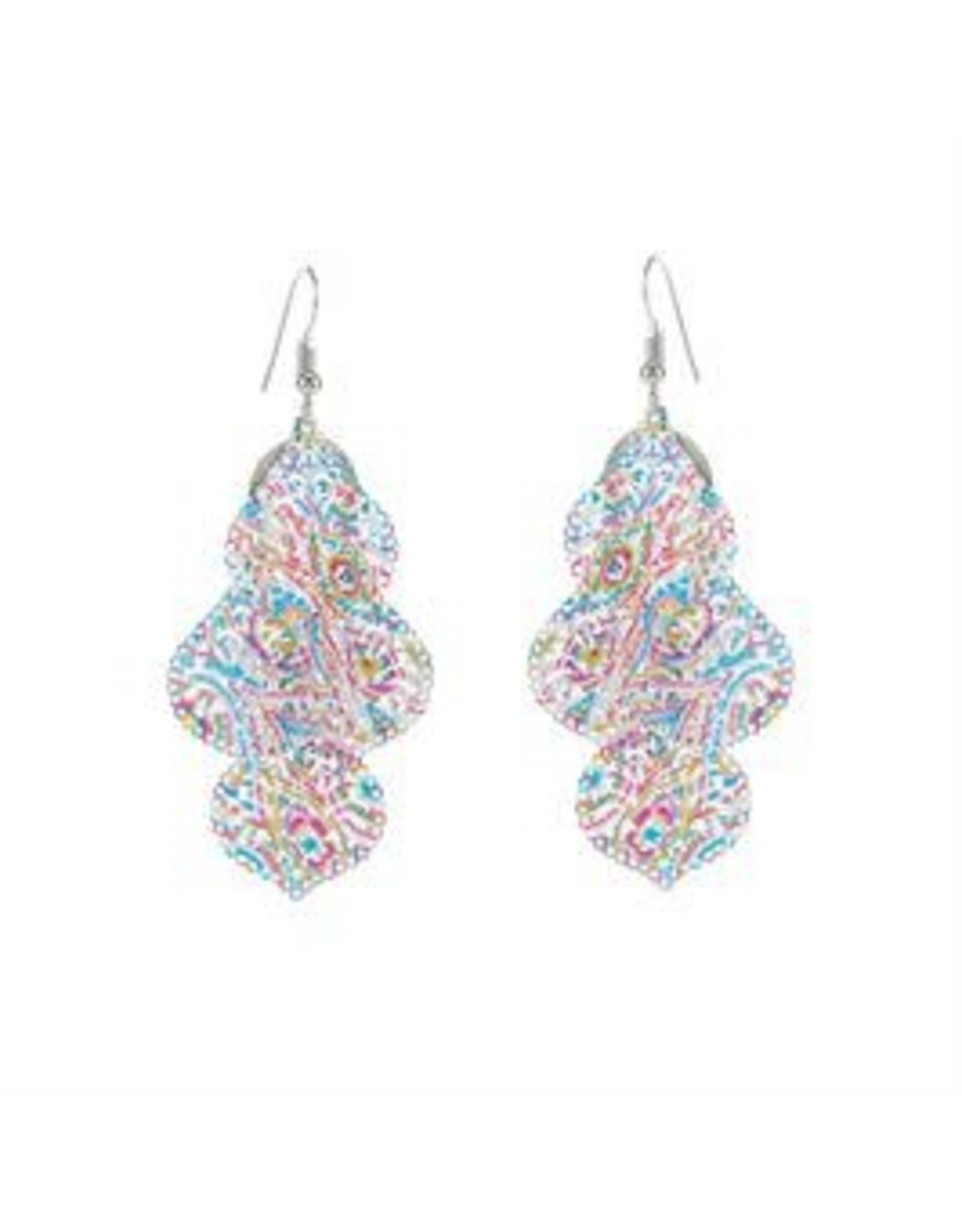 Whispers E/R Whisper Painted Filigree Curio Dangle