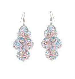 Whispers E/R- Whisper Painted Filigree Curio Dangle