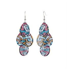 Whispers E/R- Whisper Painted Filigree Dangle Tear Drops