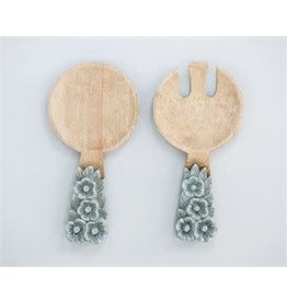 Mango Wood Salad Servers