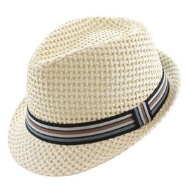 Wave Hat- Mens Fedora Beige