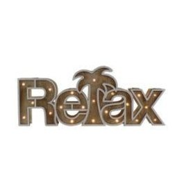 "Barry Owen Co Sign- LED Wood ""Relax"""