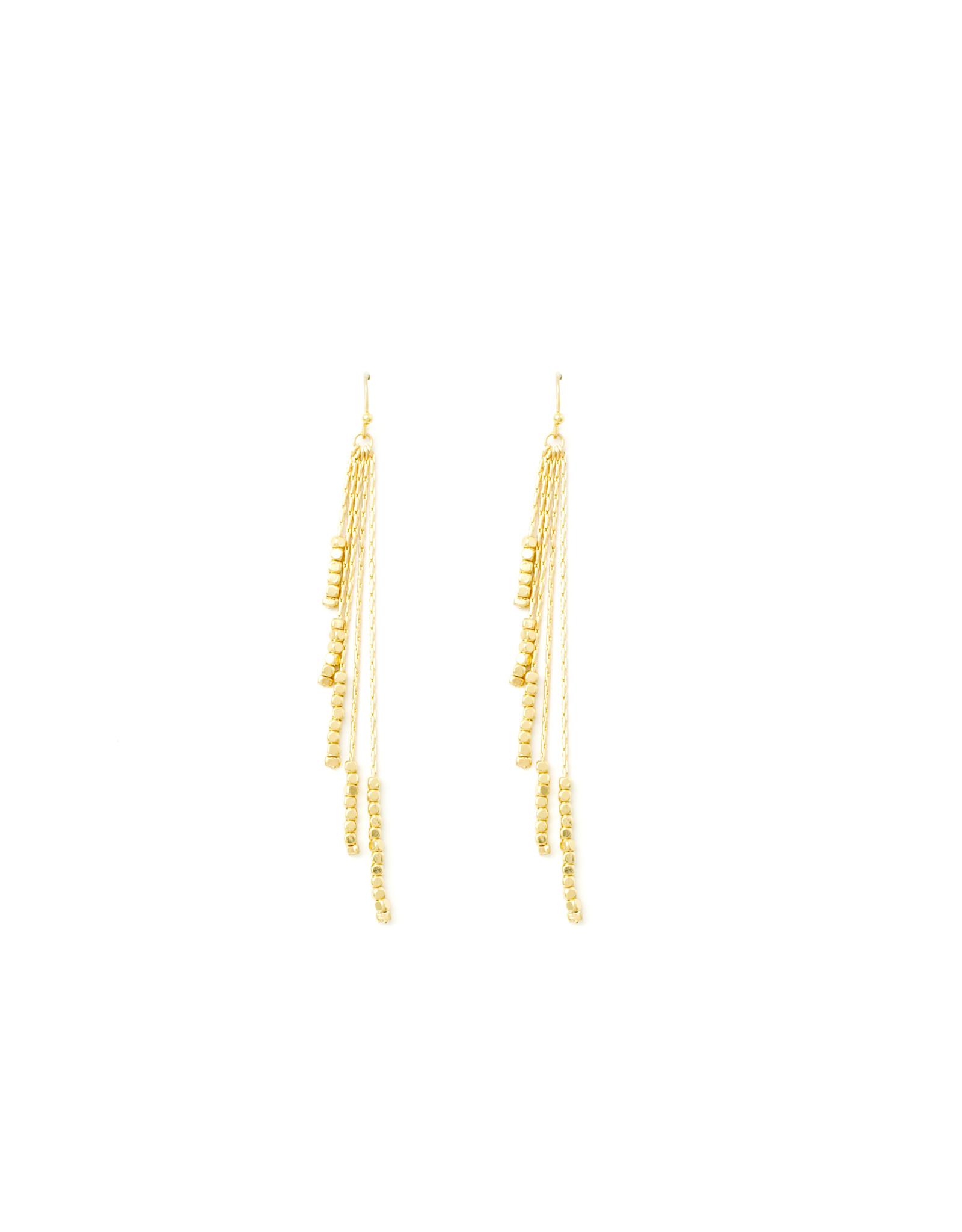 Splendid Iris E/R- Multi Strand W/ Delicate Beads