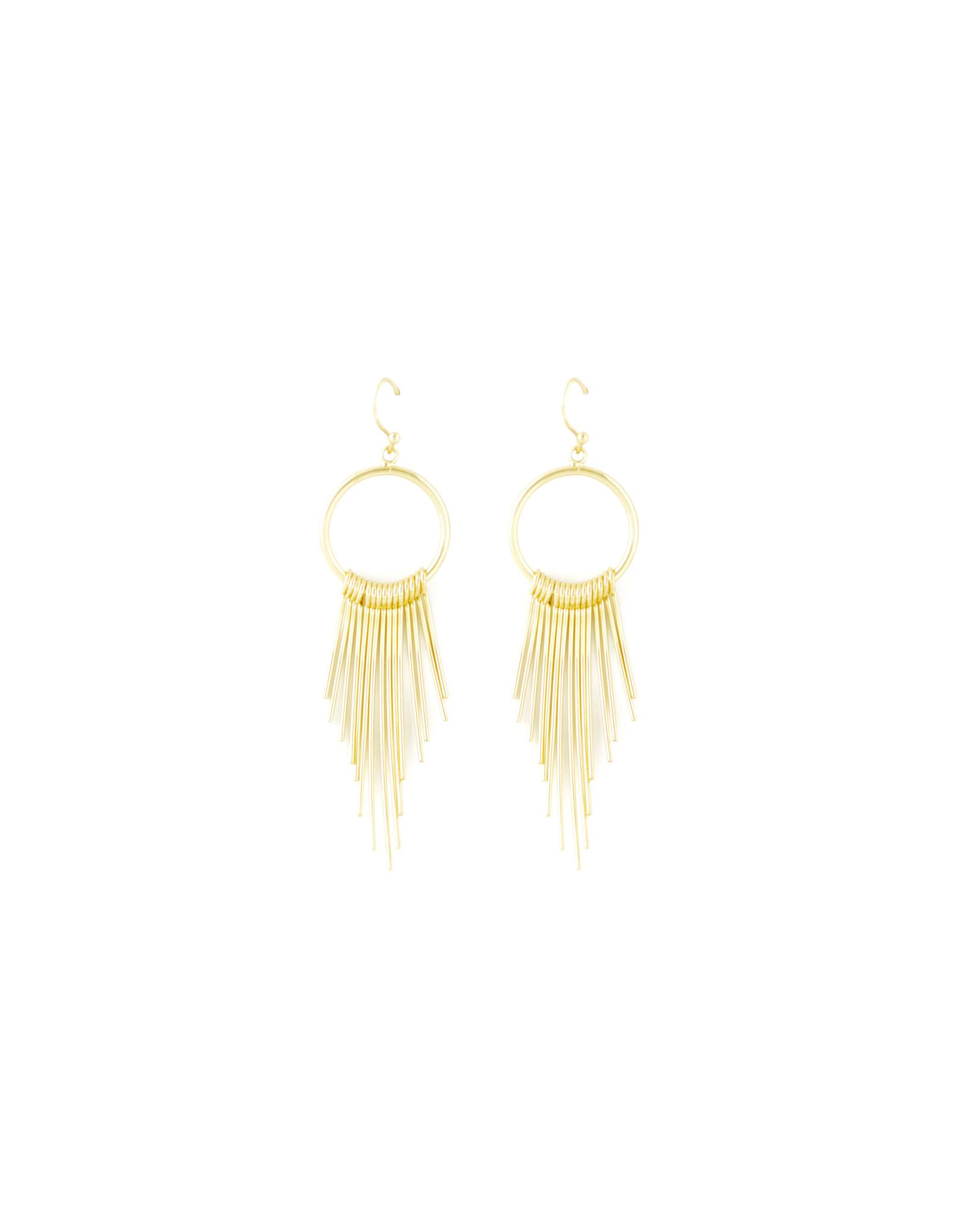 Splendid Iris E/R- Circle W/ Graduating Curves Gold