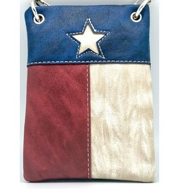 The Chic Bay Crossbody- Texas Flag