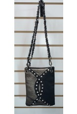 The Chic Bay Crossbody- Black & Pewter Ying