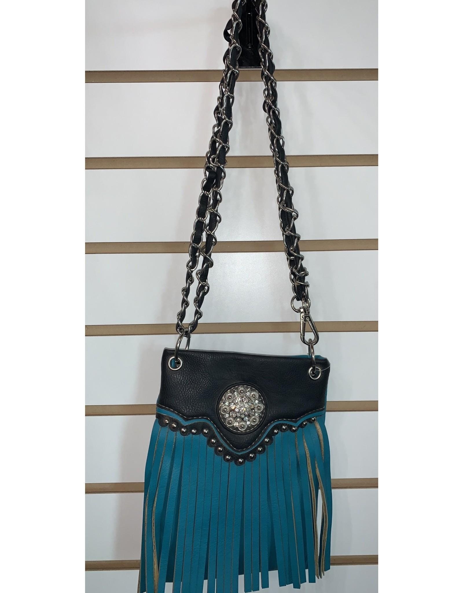 The Chic Bay Crossbody- Chic Fringe Teal/Black