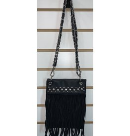 The Chic Bay Crossbody- Fringe W/ Rhinestones