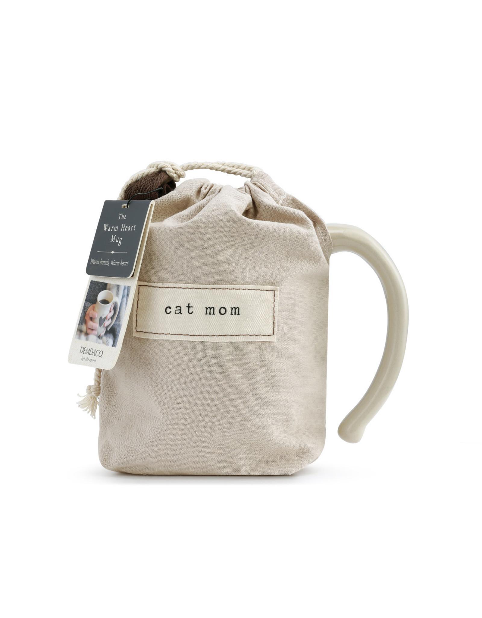 Demdaco Cat Mom Heart Mug