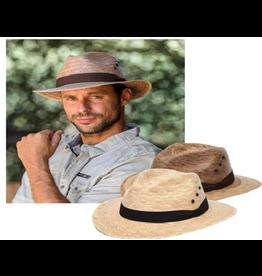 Wave Hat- Men Fedora Palm Leaf