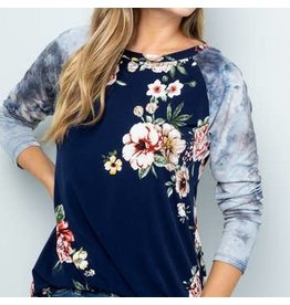 Celeste Clothing Celeste Navy Top