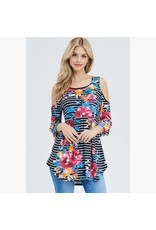 Sweet Lovely by Jen Floral & Striped Tunic