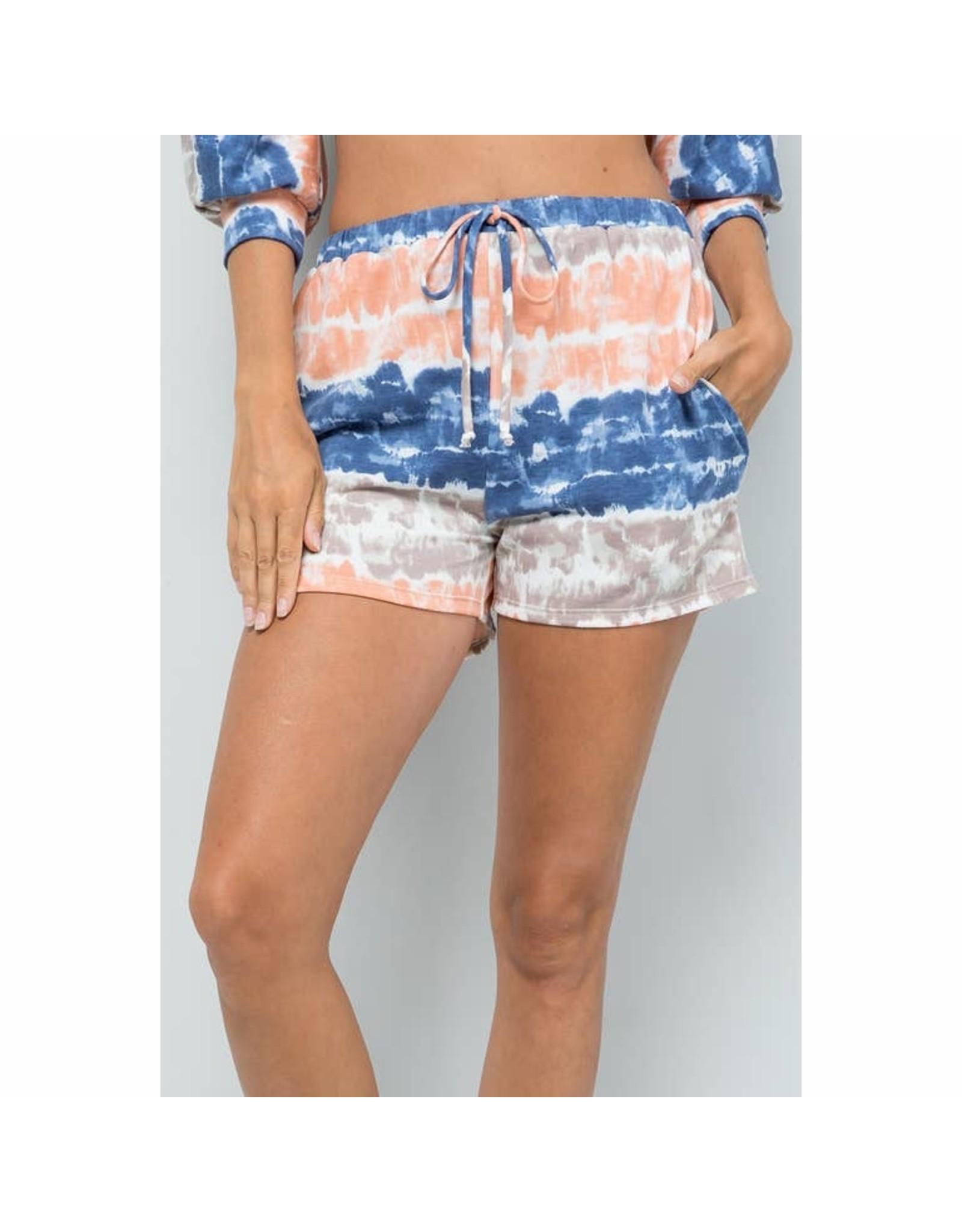 Sweet Lovely by Jen Tie Dye Jersey Shorts