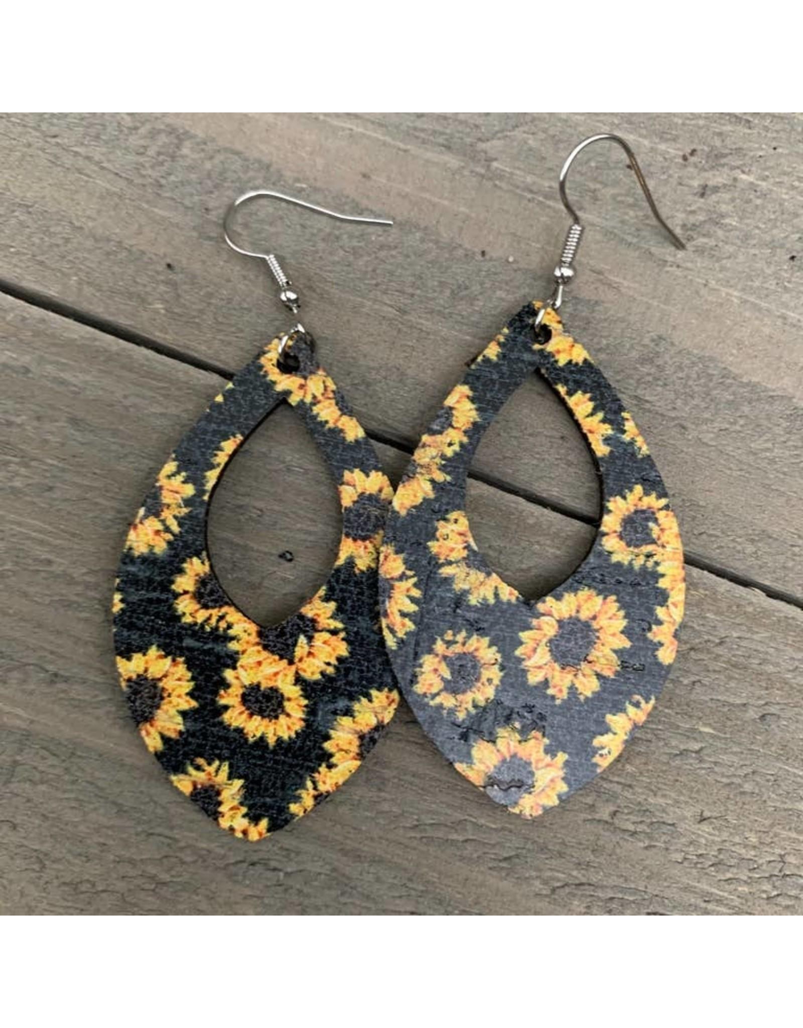 Jill's Jewels E/R- Black Sunflower Leather